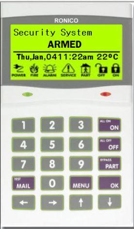 Αλφαριθμητικό Πληκτρολόγιο LCD  CYCP101