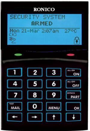 Αλφαριθμητικό Πληκτρολόγιο LCD  CYCP710BLACK